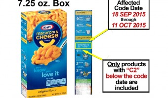 Kraft Foods Voluntarily Recalls Kraft Macaroni and Cheese Boxed Dinners Due To Possible Metal Pieces
